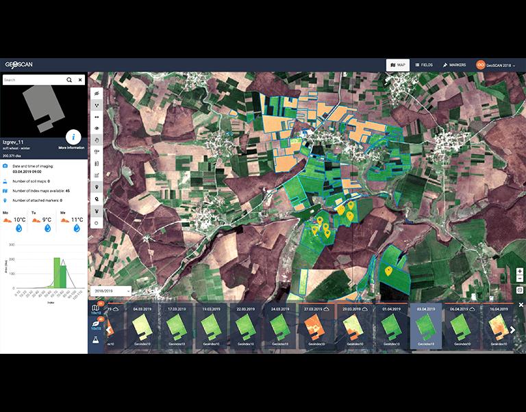 GeoScan Crop Development Monitoring Platform