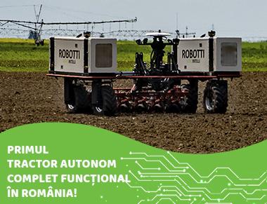 Primul tractor autonom complet funcțional, în România!